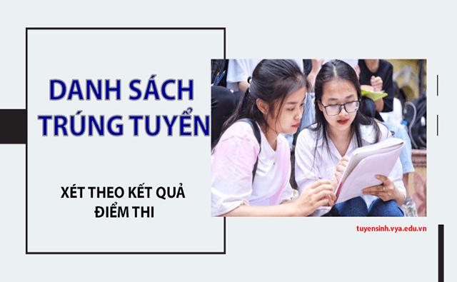 Thông báo điểm trúng tuyển đối với thí sinh xét tuyển bằng kết quả thi tốt nghiệp THPT 2020